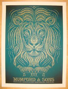 Mumford & Sons w/ Ben Howard and Haim - silkscreen concert poster (click image for more detail) Artist: Todd Slater Venue: Susquehanna Bank Center Location: Camden, NJ Concert Date: 2/16-17/2013 Editi