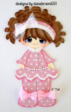 Girl Pink White Paper Piecing Premade 4 Borders Scrapbooks Albums DANDERSON651   eBay