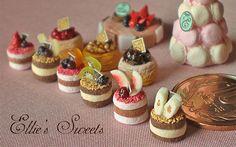 Miniature Sweets Macaron Tower. ..♥.Nims.♥