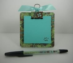post it note 'clipboard' holder