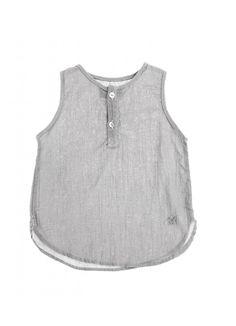 Sleeveless Shirt / Grey