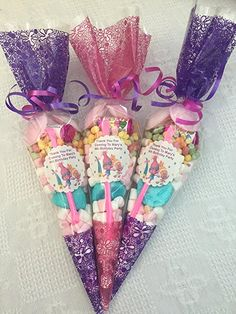 10 x troll movie themed party cones personalised + sweety bag with every order: Amazon.co.uk: Grocery