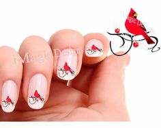 Christmas Bird Waterslide Nail Decals Bird Nail by iMagicDesigns
