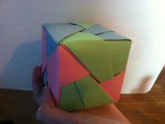 cubo origami semplice e grazioso