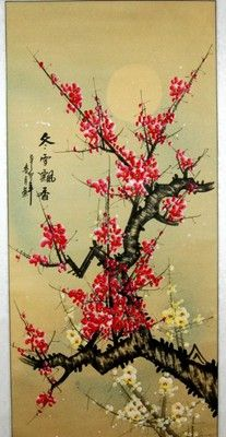 """""""Even in the winter snow, the cherry blossom prevails and is fragrant."""""""