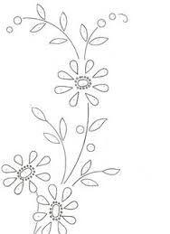 Resultado de imagen para riscos para bordar flores Hand Embroidery Patterns Flowers, Hand Embroidery Designs, Embroidery Art, Embroidered Flowers, Cross Stitch Embroidery, Cute Flower Drawing, Leaf Drawing, Graphic Design Portfolio Examples, Lazy Daisy Stitch