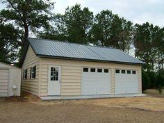 Pole barn cplors cheap pole barn kits michigan out for Cheap 2 car garage kits