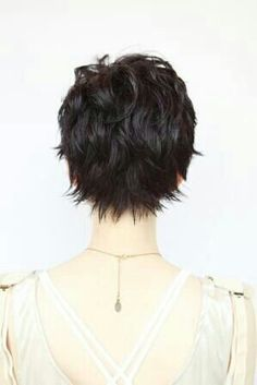 back of soft pixie cut