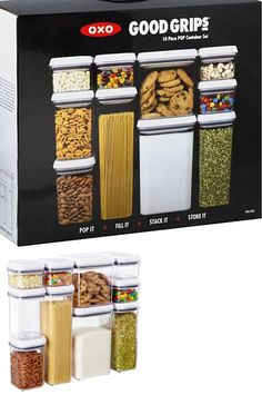Food Storage Containers 20655: Oxo Good Grips 10 Piece Pop Container Set  Food Storage