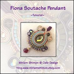 Fiona Soutache Pendant Tutorial by MiriamShimon on Etsy