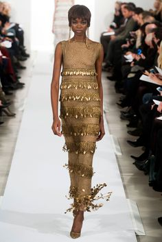 Oscar de la Renta Fall 2014 - sheer glamour