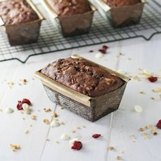 Chocolate Walnut Cranberry Pear Tea Bread... a quick easy loaf