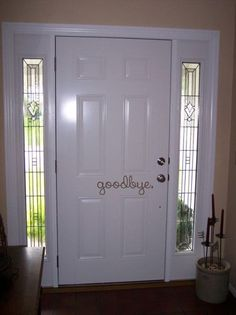 Goodbye Front Door Entry 14x5 Sign Vinyl Wall Decal Sticker on Etsy, £4.61