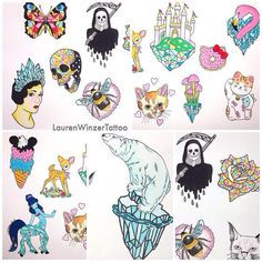 Cute kawaii tattoo designs