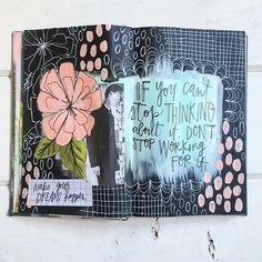 A completed art journal page. I'm excited to see where this project takes me…