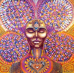 Third Eye Moon Cycle Heart Opening Art by Isabel Bryna of MariposaGalactica