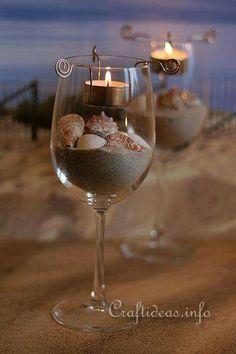 Table decor beach wedding