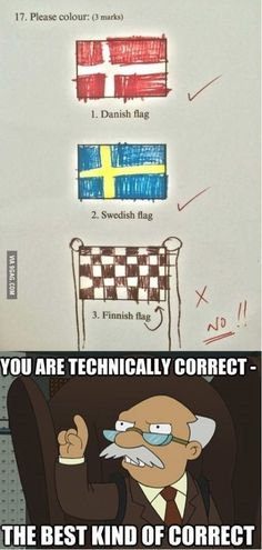 "Because it marks the ""finnish"" line"