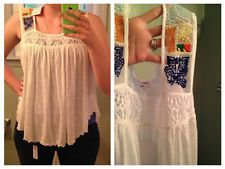 Pursue Embroidered Tank - Boho - NWT - Size Large