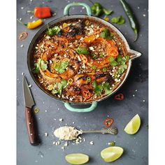 Roasted squash laksa bake with chicken, lemongrass, peanuts and rice! Serve with a fresh side salad. Great dinner for 2 recipe from my Everyday Super Food book.