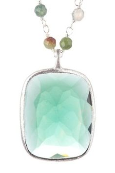 Green Hydro & Green Agate Rosary Necklace