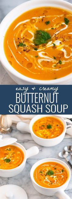 Easy and Creamy Butternut Squash Soup
