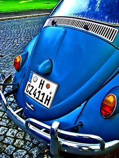 Classic Blue VW Bug