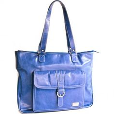 """Clark & Mayfield - Stafford Vintage Leather Laptop Tote 17.3"""""""