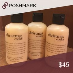 🆕Philosophy 3-n-1 Shower Gel THIS LISTING IS FOR 3. Philosophy Christmas cookie shampoo, shower gel and bubble bath Gentle enough for everyday use 6oz. shower gel, bubble bath and shampoo Philosophy Makeup
