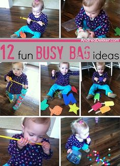 12 fun busy bag ideas - there are some great ideas in here!