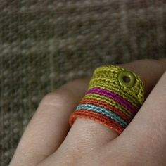 Textile  ring nO.406 by kjoo on Etsy
