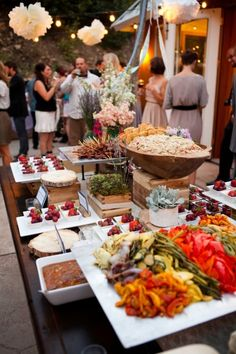 different levels on the buffet style table