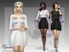 Sarah Dress by EsyraM at TSR • Sims 4 Updates