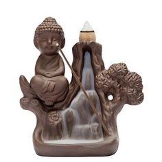 Delicious Ceramic Creative Backflow Incense Burner Cones Stick Back Glass Hydroponic Plant Vase Holder Home Decoration Home Decor