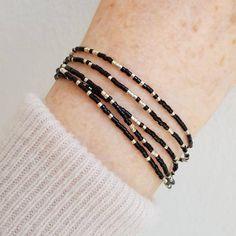 Beaded Wrap Bracelets, Seed Bead Bracelets, Seed Beads, Black Necklace, Boho Necklace, Modern Jewelry, Fashion Jewelry, Business Ideas, Jewelery