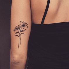 Wanna get a prairie lily tattoo. Looking at placement and design and such. Mini Tattoos, Dainty Tattoos, Dream Tattoos, Pretty Tattoos, Cute Tattoos, Body Art Tattoos, Tatoos, Rose Rib Tattoos, Cross Tattoos