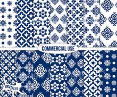 #Digital #paper Blue digital paper pack  by DigitalCS