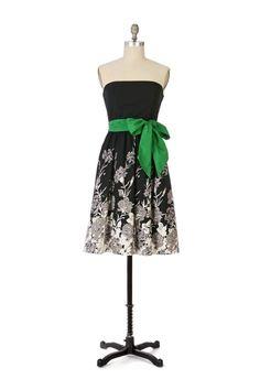 Anthropologie Charcoal Drawing Dress Viola Bare Shoulder Size S Excellent #Anthropologie #Sundress #LittleBlackDress
