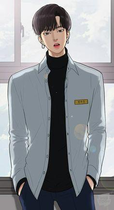 Seojun True Beauty from Webtoon Beauty Web, Real Beauty, True Beauty, Chica Anime Manga, Manga Boy, Top Manga, Webtoon Korean, Angel Wallpaper, Handsome Anime Guys