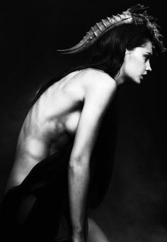 #black and white #horns #fashion photography