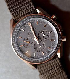 OMEGA Speedmaster - Apollo 45th Anniversaire. La montre de Christian : une Omega à trois petits cadrans.