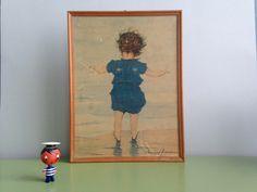 Vintage Bilder - ♥ Vintage Muriel Dawson 60er Kinderbild 50er - ein Designerstück von ILoveSparrows bei DaWanda