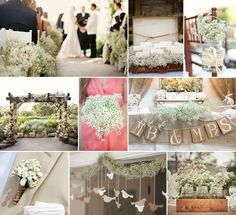 babys breath inspired wedding | WEDNESDAY'S WHIMSY | BABY'S BREATH WEDDING INSPIRATION | Lindsey Joy ...