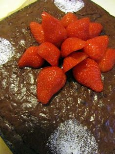 Brownie Strawberry, Pudding, Fruit, Desserts, Food, Meal, Custard Pudding, The Fruit, Deserts