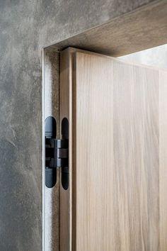 New flush door design modern Ideas Flush Door Design, Door Design Interior, Modern Interior Doors, Modern Wood Doors, Bedroom Door Design, Bedroom Doors, Design Hotel, House Design, Joinery Details