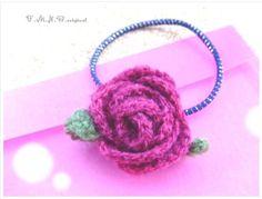 かぎ針編みのバラのヘアゴムの作り方|編み物|編み物・手芸・ソーイング|アトリエ