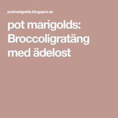 pot marigolds: Broccoligratäng med ädelost
