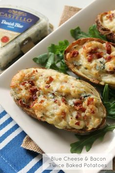 Blue Cheese & Bacon Twice Baked Potatoes