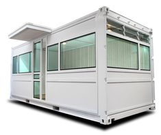 A 20f shipping container converted to a portable studio using the FORGE system by ContainerPlan