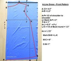 Make an A-line dress {Free Sewing Pattern & Tutorial} - Sew Guide Kids Dress Patterns, Skirt Patterns Sewing, Sewing Patterns Free, Free Sewing, Clothing Patterns, Free Pattern, Blouse Pattern Free, Pattern Ideas, Dress Sewing Tutorials